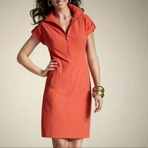 Zenergy Neema orange half zip dress